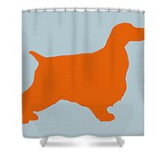 Springer Spaniel Orange Shower Curtain by Naxart Studio