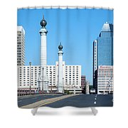 Springfield Memorial Bridge Shower Curtain