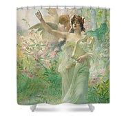 Springtime Allegory Shower Curtain