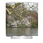 Springtime At The Pond Shower Curtain