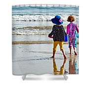 Springtime At The Seaside Shower Curtain