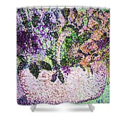 Springtime Basket Shower Curtain