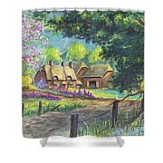 Springtime Cottage Shower Curtain