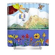 Springtime In The Rockies Shower Curtain