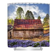 Springtime On The Farm Shower Curtain