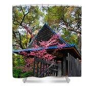 Springtime Pagoda Shower Curtain
