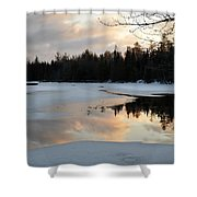 Springtime Reflection Shower Curtain