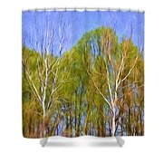 Springtime Trees Shower Curtain