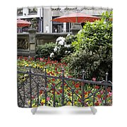 Springtime Tulips In Cologne Germany Shower Curtain
