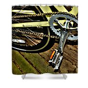 Sprocket And Chain Shower Curtain