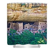 Spruce Tree House On Chapin Mesa In Mesa Verde National Park-colorado  Shower Curtain