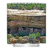 Spruce Tree House Pueblo On Chapin Mesa In Mesa Verde National Park-colorado Shower Curtain