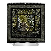 Sq Sunflower Stack Cont L Shower Curtain