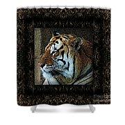 Sq Tiger Profile 6k X 6k Bboo Matt Shower Curtain