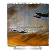 Squadron Scramble Shower Curtain