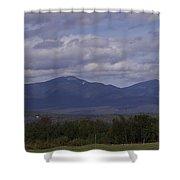 Squam Mountain Range Shower Curtain