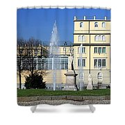 Square And Statues Shower Curtain