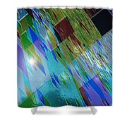Square Black Holes Shower Curtain