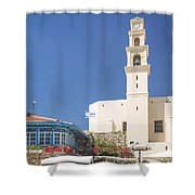 Square In Jaffa Tel Aviv Israel Shower Curtain