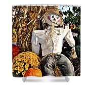 Square Scarecrow Shower Curtain
