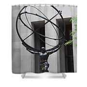 Square Shoulders - Hercules Statue Shower Curtain