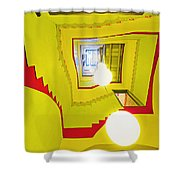 Square Spiral Shower Curtain