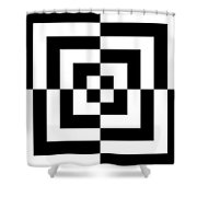 Mind Games 12 Panoramic Shower Curtain