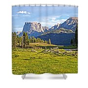 Square Top 2 Shower Curtain