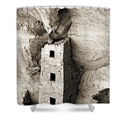 Square Tower House Shower Curtain