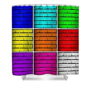 Squared Color Wall  Shower Curtain