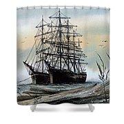 Squarerigger Cove Shower Curtain