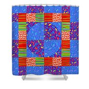 Squares Lines Dots Symbol Infinity Red Purple Blue Green Colorful Waves Unique Background Designs  A Shower Curtain