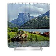 Squaretop Mountain 1 Shower Curtain