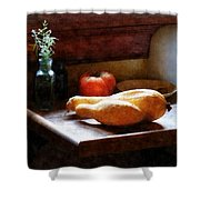 Squash And Tomato Shower Curtain