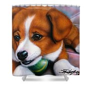 Squeaker Shower Curtain