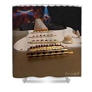 Squier Stratocastor Guitar - 3 Shower Curtain