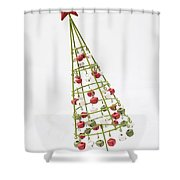 Squiffy Tree Shower Curtain