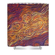 Squiggle Stream Shower Curtain