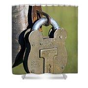 Squire Brass Lock Shower Curtain