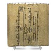 Squire Whipple Truss Bridge Patent Shower Curtain