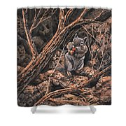 Squirrel-ly Shower Curtain