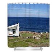 Squish Studio Tilting Fogo Island Newfoundland Shower Curtain