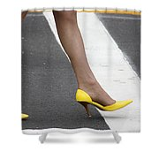 Squished Lemons  Shower Curtain