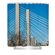 Sr-509 Cable Stayed Bridge Shower Curtain