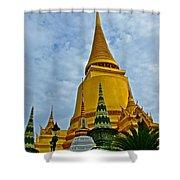 Sri Lanka Pagoda At Grand Palace Of Thailand In Bangkok Shower Curtain
