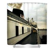 S.s. Badger Car Ferry Shower Curtain