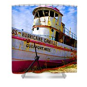Ss Hurricane Camille Tugboat Shower Curtain