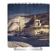 S.s. Keno Sternwheel Paddle Steamer Shower Curtain