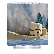 Ss More Shower Curtain by Heather Applegate