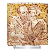 Saints Peter And Paul Embracing Shower Curtain